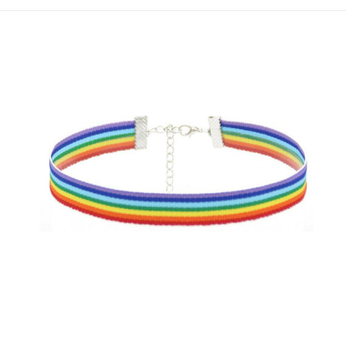 Rainbow Pride choker - LGBTQ Necklace - Jewelry, necklace, HEED THE HUM