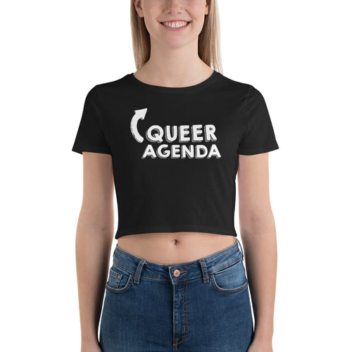 Queer Agenda Pride Crop Top Tee Shirt