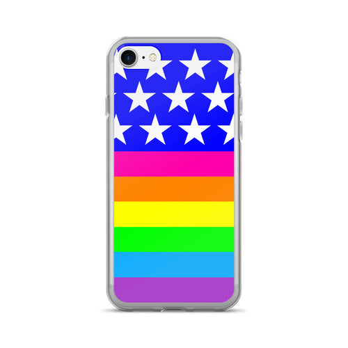 LGBTQ Queer Rainbow Pride Flag iPhone 7/7 Plus Case