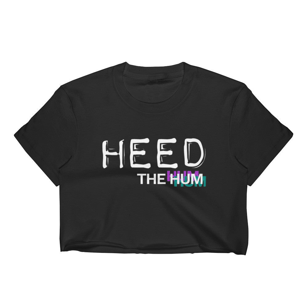 Heed The Hum Logo Crop Top, Shirts, HEED THE HUM
