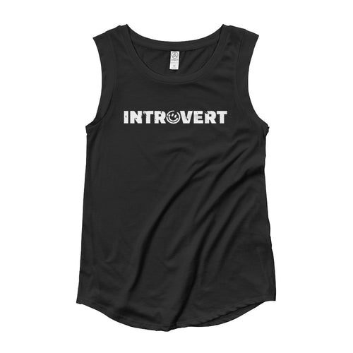 Introvert Woman's Cut Tank Top