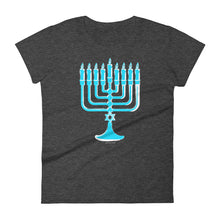 Menorah Chanukah Graphic Women's Cut T-shirt, , HEED THE HUM