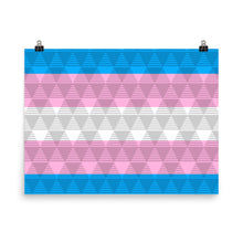 Trans Pride Flag Poster, Poster, HEED THE HUM