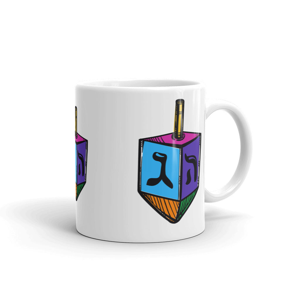 Chanukah Dreidel Mug, Mug, HEED THE HUM