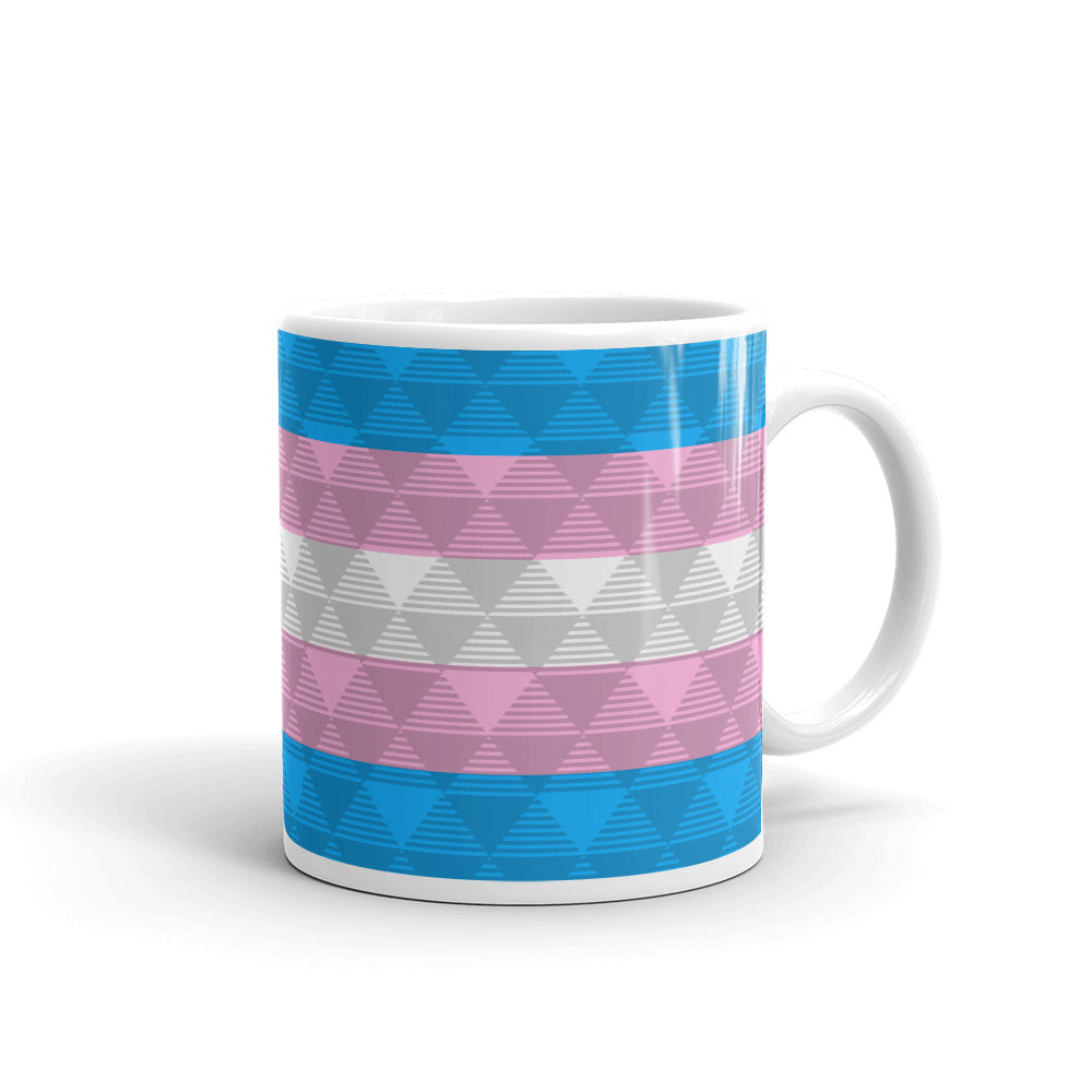 Trans Pride Flag Mug - LGBTQ, Mugs, HEED THE HUM