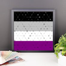 Asexual Flag Framed poster art, Poster, HEED THE HUM