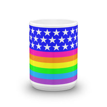 Queer LGBTQIA+ Rainbow Flag Mug, Mugs, HEED THE HUM