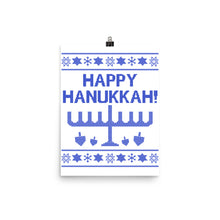 Happy Hanukkah Ugly Christmas Sweater Poster, Poster, HEED THE HUM