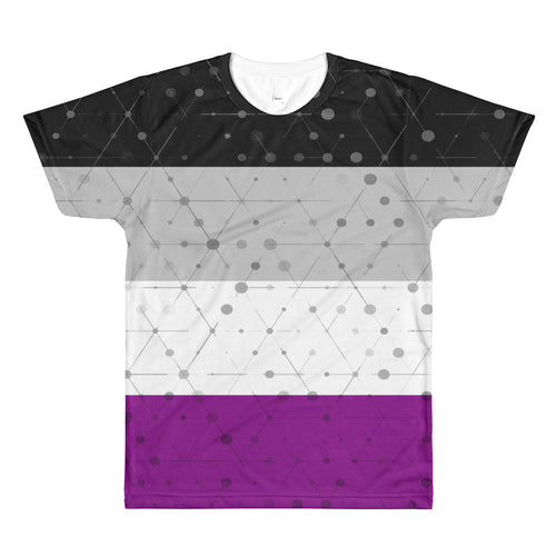 Asexual Flag All-Over Printed T-Shirt (one-sided), Shirt, HEED THE HUM