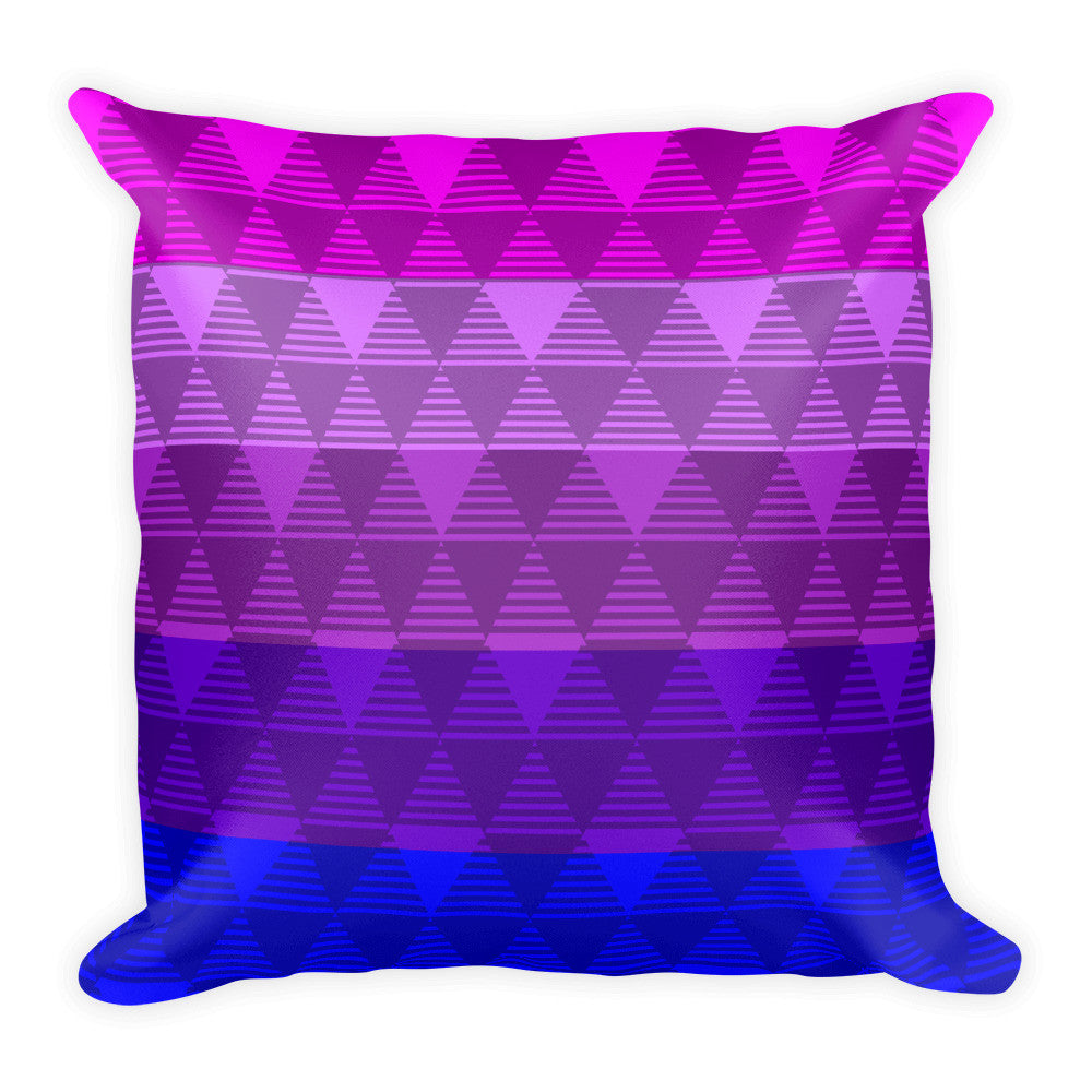 Trans Pride Flag Square Throw Pillow