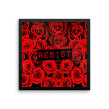Roses Resist Framed poster, Poster, HEED THE HUM