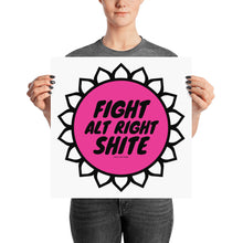 Alt Right Shite Pink Activist Poster, Poster, HEED THE HUM