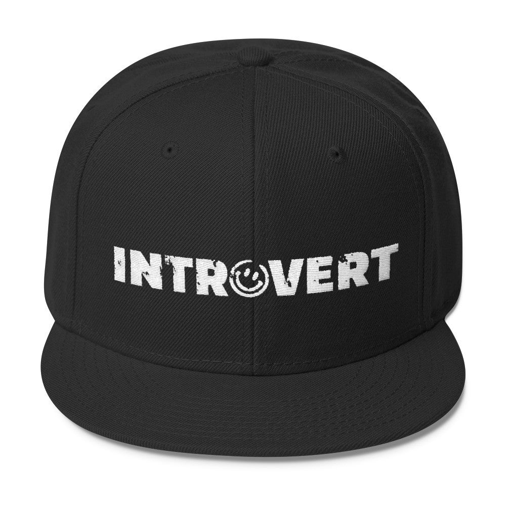 Introvert Wool Blend Snapback Hat, Hats, HEED THE HUM