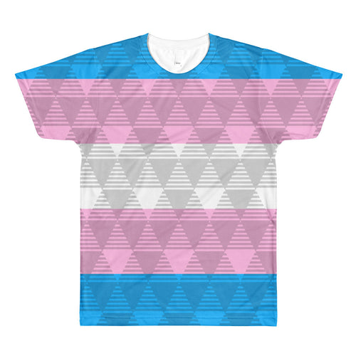 Trans Pride Flag Unisex T-shirt (one sided), Shirts, HEED THE HUM