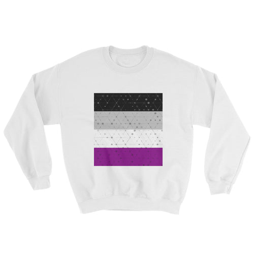 Asexual Flag Crew Neck Sweatshirt, Sweatshirt, HEED THE HUM