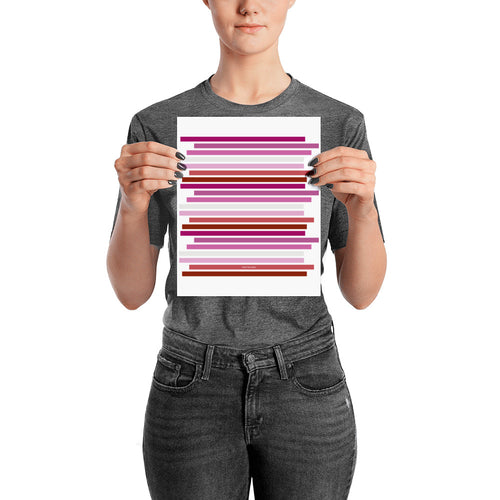 Lesbian Pride Flag Staggered Poster