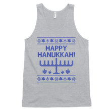 Happy Hanukkah Ugly Christmas Sweater Unisex Tank Top, Shirts, HEED THE HUM