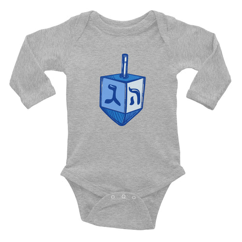 Dreidel Infant Long Sleeve Chanukah Bodysuit Onesie, Kids, HEED THE HUM