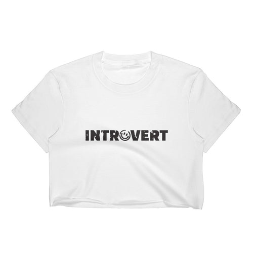 Introvert Crop Top, Shirts, HEED THE HUM