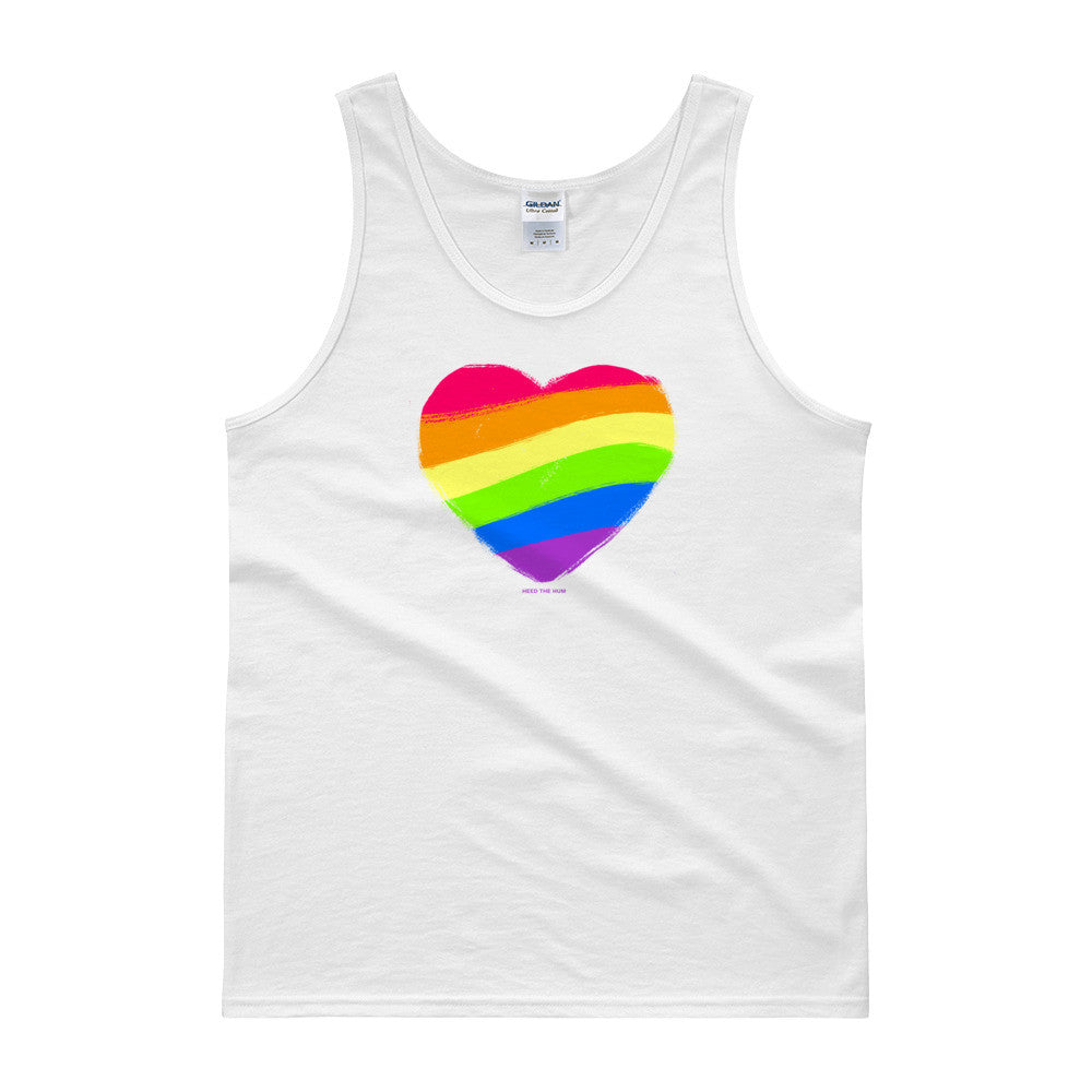 LGBTQ Queer Pride Flag Unisex Tank top, Shirts, HEED THE HUM