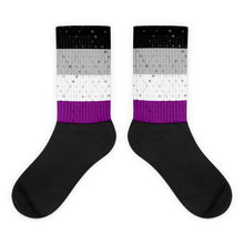 Asexual Flag Socks, Socks, HEED THE HUM
