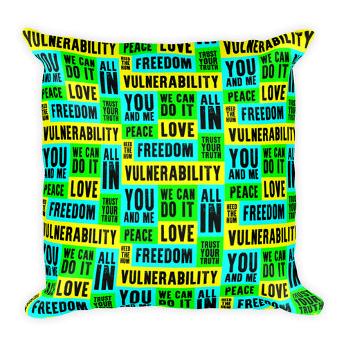 Vulnerability Square Throw Pillow