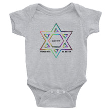 Things Will Be Better - YIHYEH TOV Magen David Rainbow Infant Bodysuit Onesie, baby, HEED THE HUM