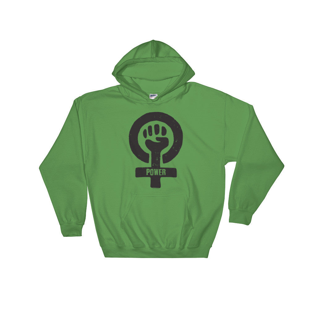 Feminist Power Unisex Hooded Sweatshirt, Shirts, HEED THE HUM