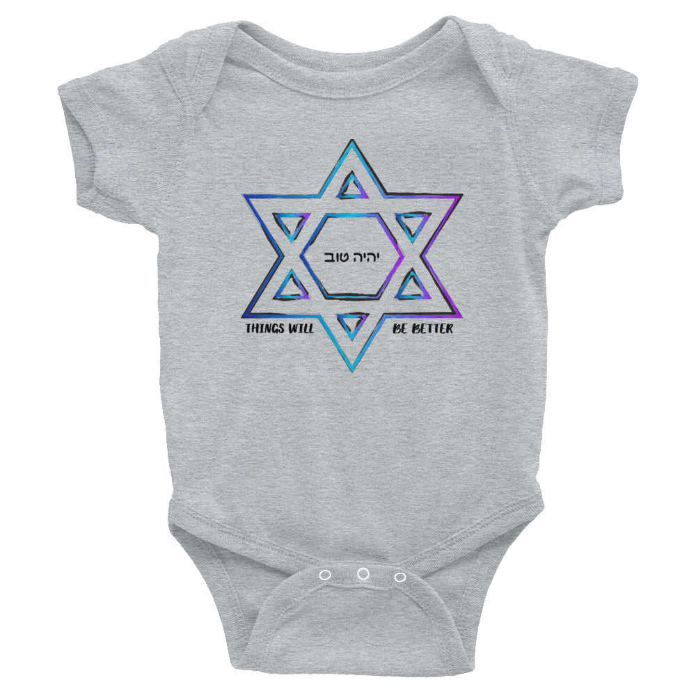 Things Will Get Better - YIHYEH TOV Blues Magen David Infant Bodysuit Onesie, Infant, HEED THE HUM