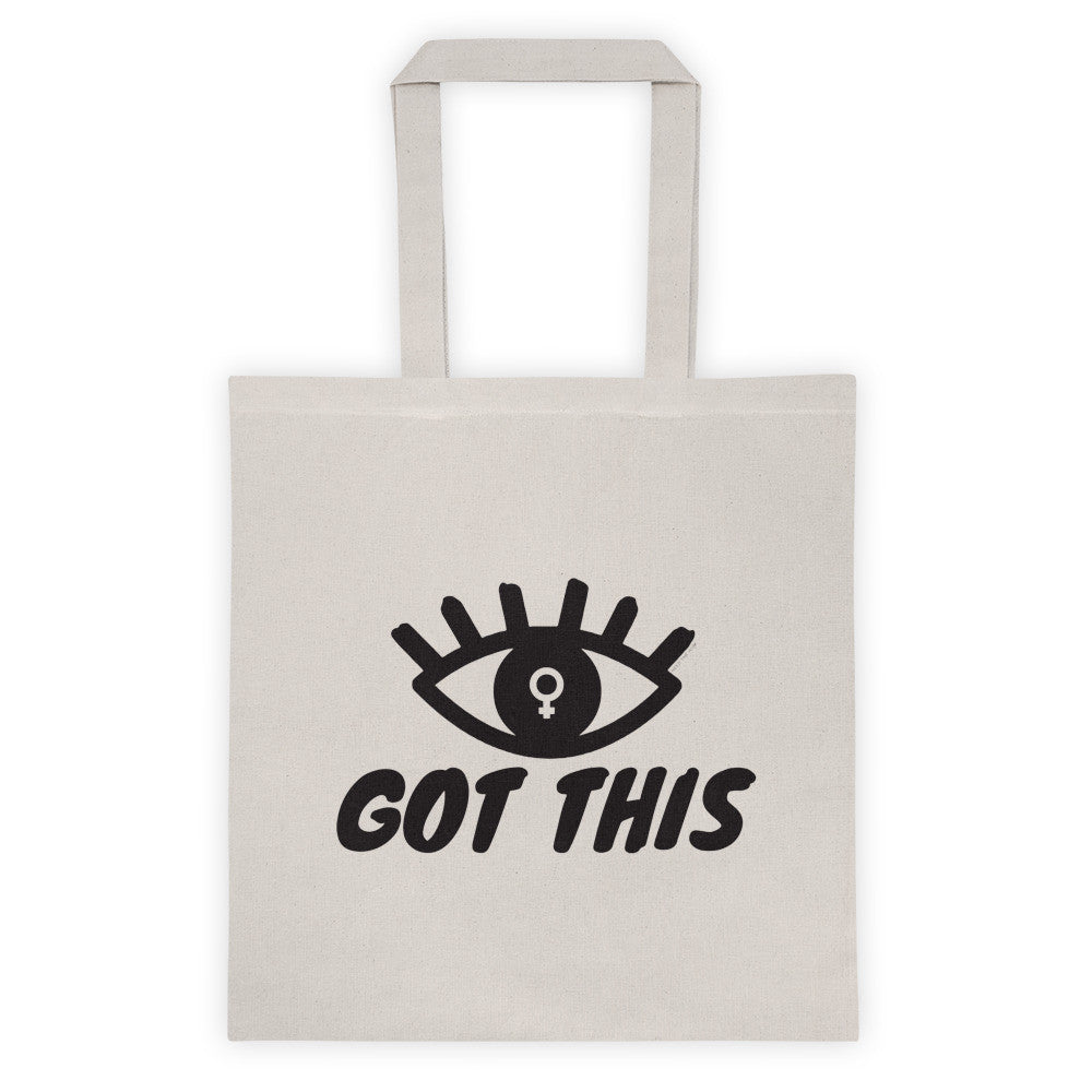 Eye Got This Feminist Tote bag, Tote Bag, HEED THE HUM