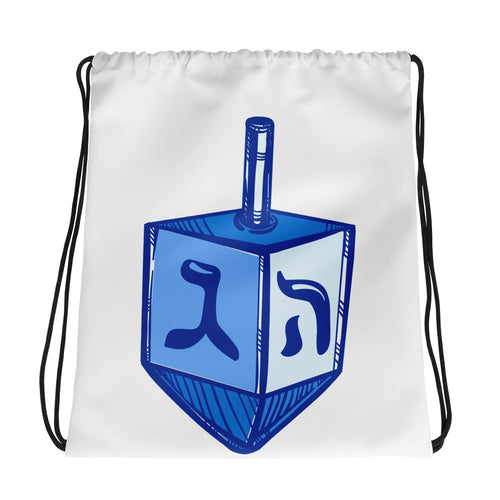 Dreidel Drawstring Chanukah Bag, , HEED THE HUM