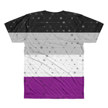 Asexual Flag All-Over Printed Unisex T-Shirt, Shirt, HEED THE HUM