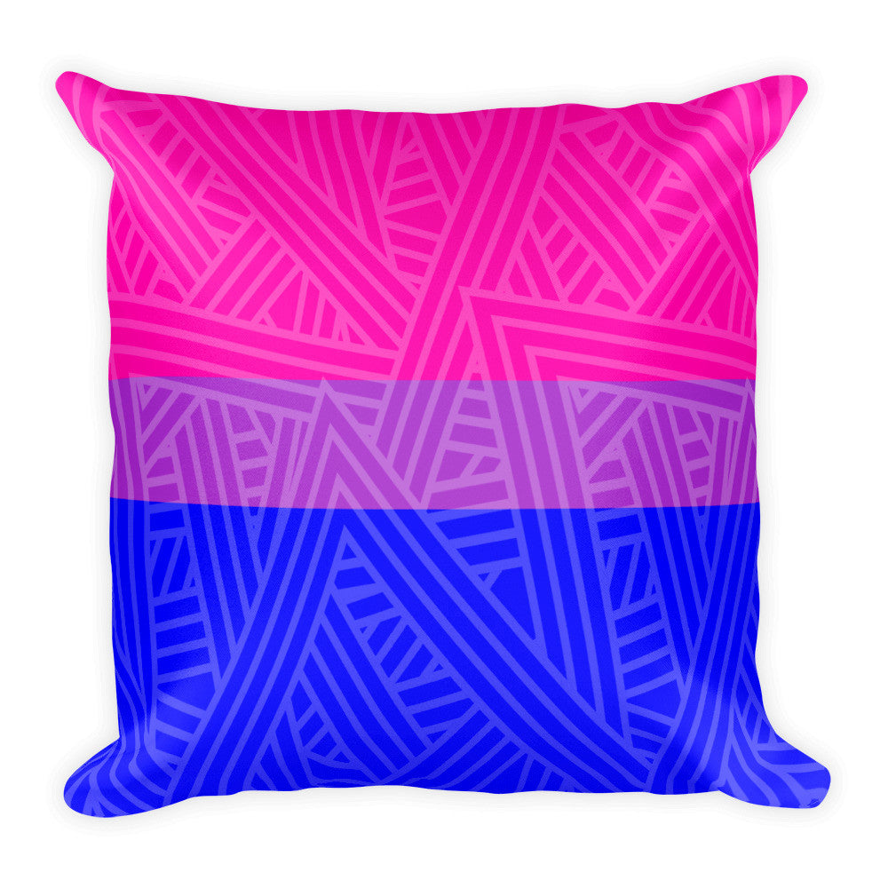 Bisexual Pride Flag Square Throw Pillow | LGBTQ, Pillow, HEED THE HUM