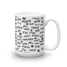 White Peace Mug, Mug, HEED THE HUM