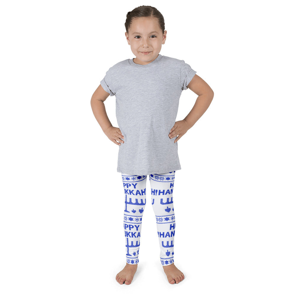 Happy Hanukkah Ugly Christmas Sweater Kid's leggings, Leggings, HEED THE HUM