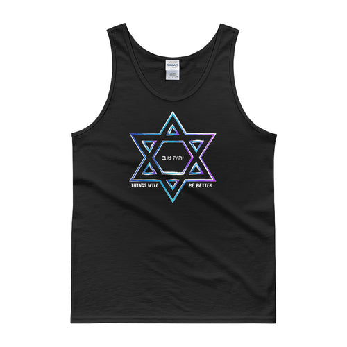 Things Will Be Better - YIHYEH TOV Blues Magen David Unisex Tank Top
