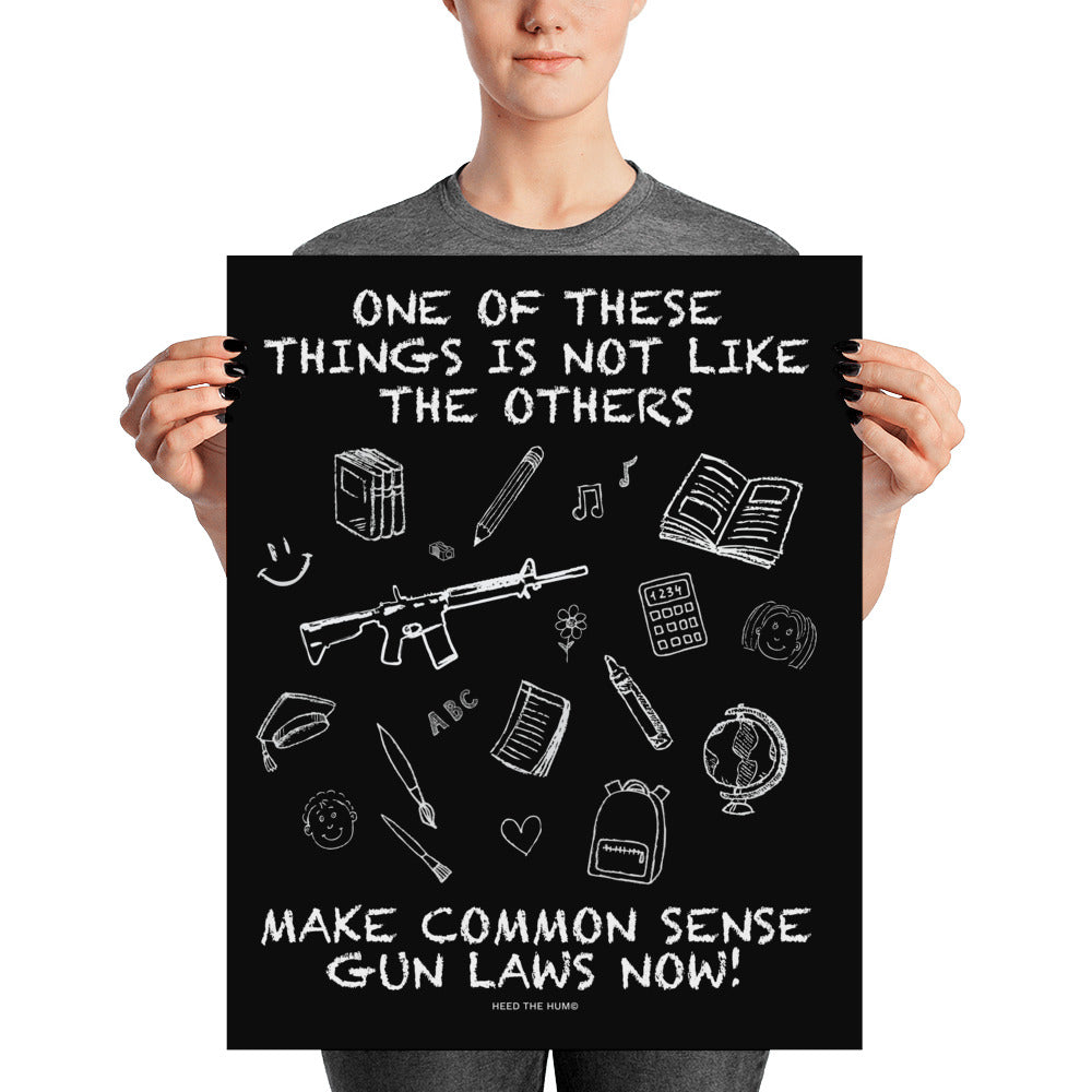Common Sense Gun Laws Activist Poster, Poster, HEED THE HUM