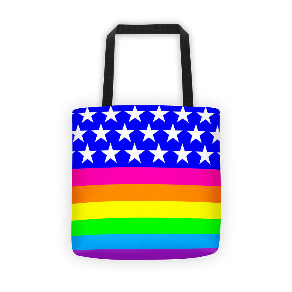 LGBTQ Queer Rainbow Pride Flag Tote bag, Tote Bag, HEED THE HUM