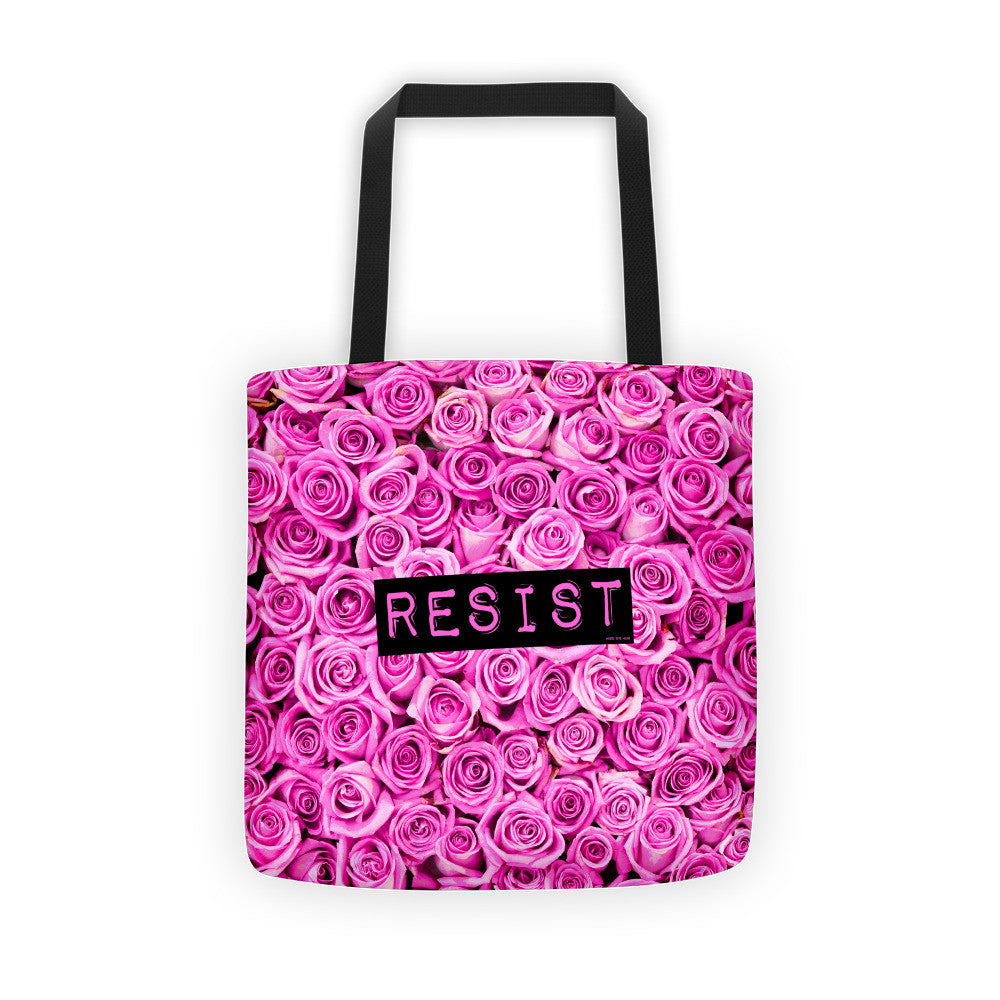 Roses Resist Pink Tote bag, Tote Bag, HEED THE HUM