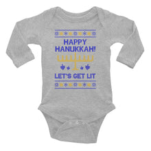 Happy Hanukkah - Let's Get Lit Unisex Holiday Infant Long Sleeve Bodysuit, Baby, HEED THE HUM