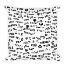 Peace Square Throw Pillow, Pillow, HEED THE HUM