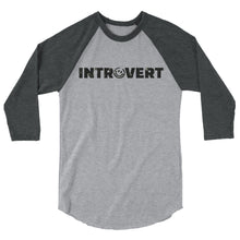 Introvert Unisex 3/4 sleeve raglan shirt, Shirts, HEED THE HUM