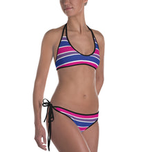 Bisexual Pride Flag Striped Bikini - LGBTQ, swimwear, HEED THE HUM