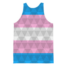 Trans Flag Unisex Tank Top, Shirts, HEED THE HUM