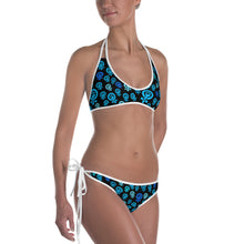 Blue Feminist Power Bikini, Bikinis, HEED THE HUM