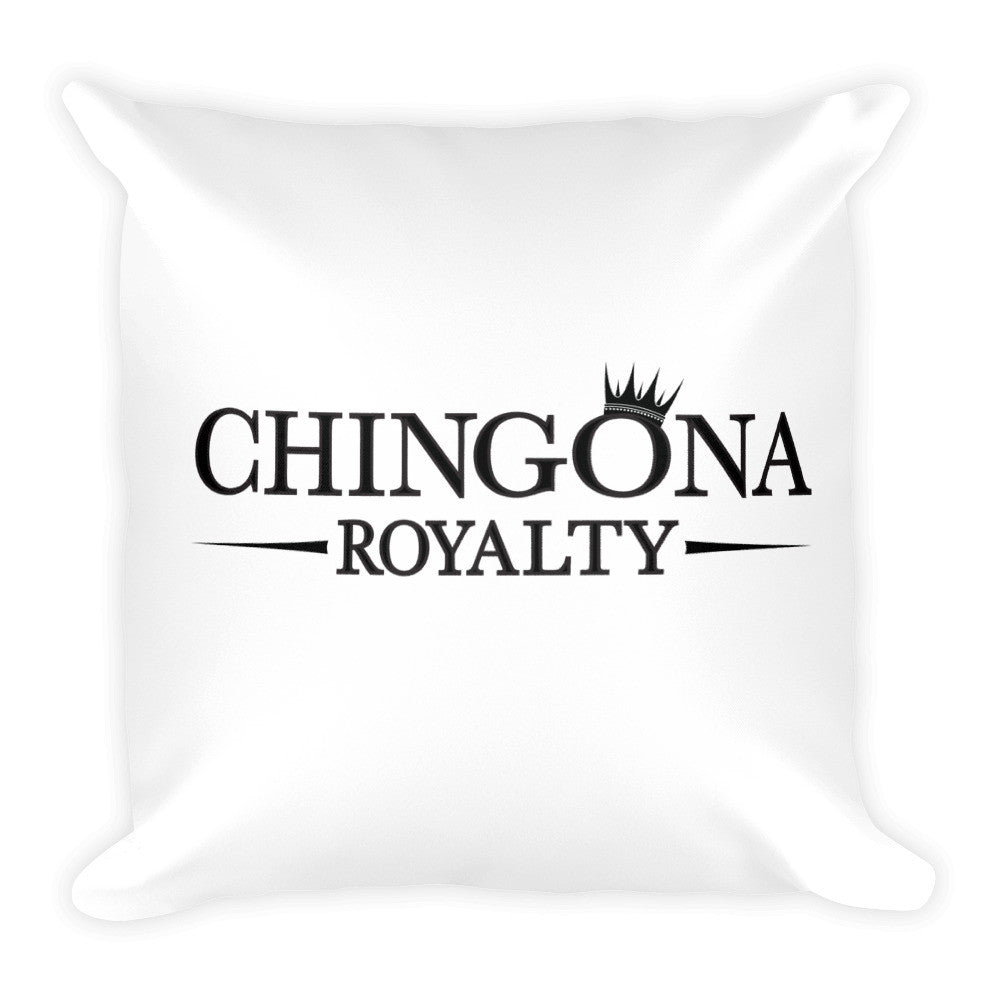 Chingona Royalty Square Throw Pillow, , HEED THE HUM