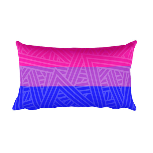 Bisexual Pride Flag Rectangular Pillow | LGBTQ, Pillow, HEED THE HUM