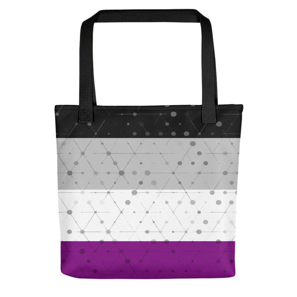 Asexual Flag Tote bag, Tote Bag, HEED THE HUM