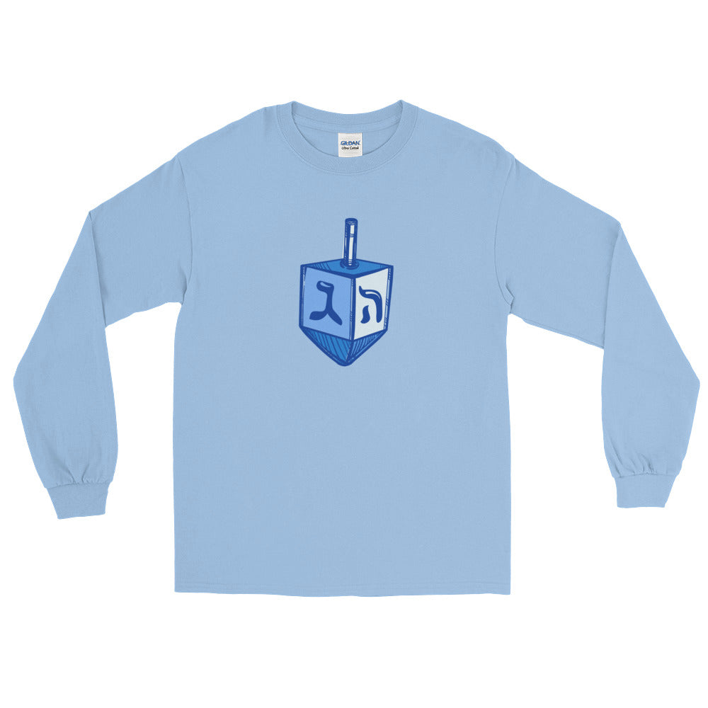 Dreidel Graphic Long Sleeve T-Shirt, Shirt, HEED THE HUM