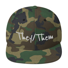 They/Them Pronoun Non-Binary Snapback Hat - Gender Fluid